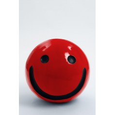 WORCESTER - 40cm - Statue emoticone smiley taille S colori rouge