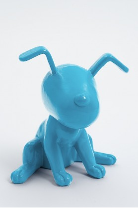 MONTREAL - 20cm - Statue chien snoopy taille XS colori bleu turquoise
