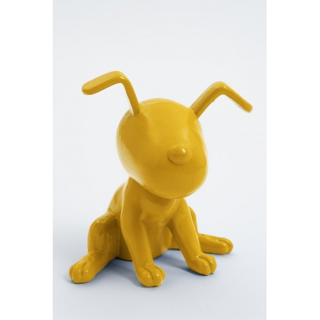 MONTREAL - 20cm - Statue chien snoopy taille XS colori jaune