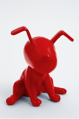 MONTREAL - 20cm - Statue chien snoopy taille XS colori rouge