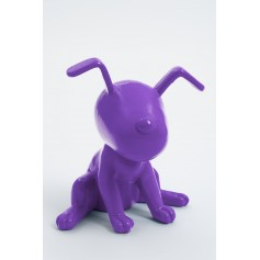 MONTREAL - 20cm - Statue chien snoopy taille XS colori violet