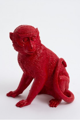 BOMA - 35cm - Statue singe assis taille S colori rouge