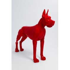 BERLIN - 120cm - Statue chien dogue allemand taille L colori rouge