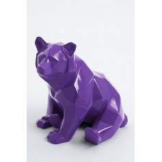 SKLAD - 27cm - Statue mini ours origami assis taille XS colori violet