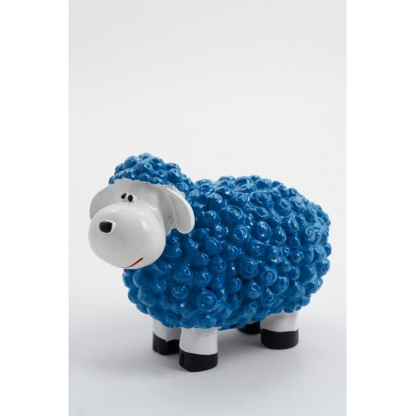 CAHIR - 30cm - Statue mouton cartoon taille XS coloris bleu piscine