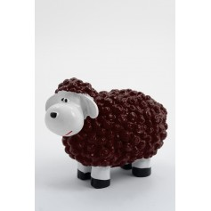 CAHIR - 30cm - Statue mouton cartoon taille XS coloris rouge bordeaux