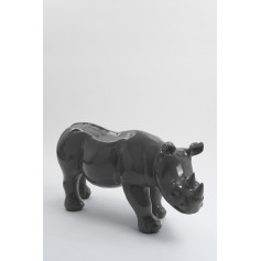 BODIKI - 110cm - Statue rhinoceros ultra lisse taille M coloris gris